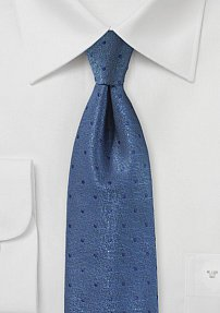 Bright Indigo Colored Polka Dot Tie