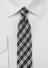 Trendy Skinny Tie in Spun Silk