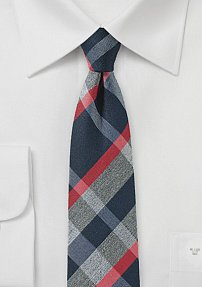Casual and Trendy Tartan Skinny Tie