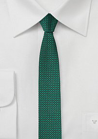 Super Skinny Designer Tie in Sea Green
