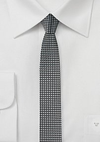 Super Slim Cut Tie in Graphite