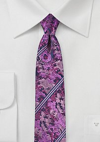 Violet, Pink, and Purple Floral Tie