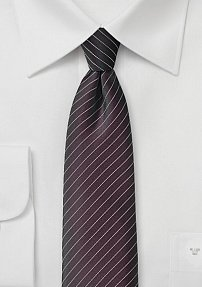 French Roast Brown Pencil Striped Tie
