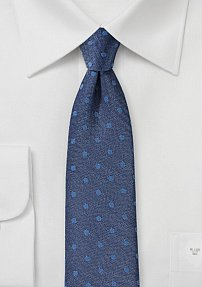 Linen and Silk Tie in Denim Blue