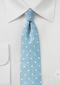 Polka Dot Necktie in Aquamarine