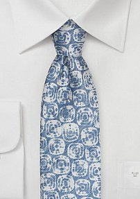Trendy Summer Tie in Linen in French Blue