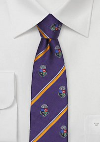 Crested Skinny Tie for Delta Tau Delta