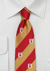 Striped Silk Necktie for Kappa Alpha