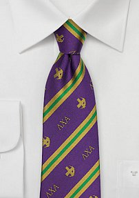 Silk Striped Tie for Lambda Chi Alpha