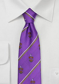 Phi Gamma Delta Coat of Arms Skinny Tie