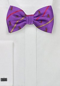 Purple, Gold, and Red Striped Bow Tie for Sigma Phi Epsilon