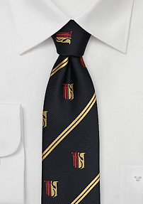 Theta Chi Greek Tie in Black and Gold