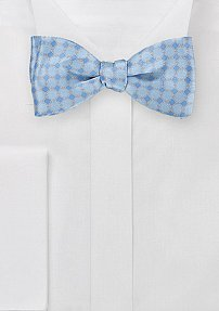 Graphically Patterned Bow Tie in French Blues
