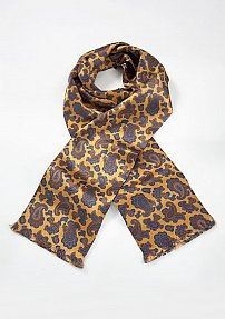 Men's Paisley Patterned Scarf in Vintage Gold