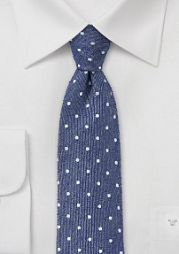 Artisan Polka Dot Tie in Navy and White