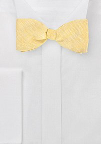 Designer Bow Tie in Vintage Yellow