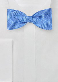 Men's Self Tie Bow Tie with Glen Check Design