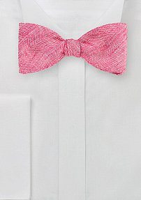 Men's Self Tie Bow Tie in Azalea Pink