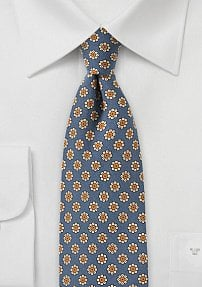 Victorian Lilac Skinny Tie with Floral Print