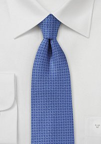 Graphic Check Tie in Ink Blue