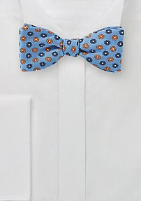 Summer Floral Bowtie in Sky Blue