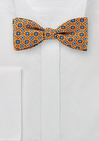 Pixel Art Bow Tie in Orange and Blue