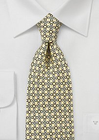 Mens Graphic Tie in Yellows and Blues