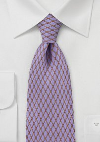 Lilac Tie with Bronze Pattern