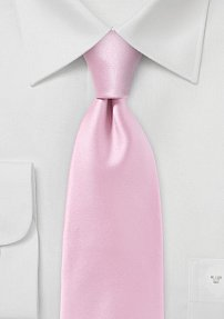 Modern Rose Petal Pink Tie in Narrow Cut