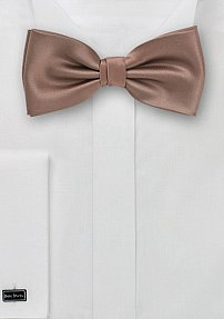Solid Latte Brown Bow Tie