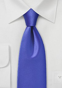 Satin Finished Necktie in Potent Sapphire Hue