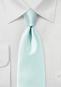 Pale Mint Green Solid Colored Tie