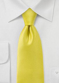 Solid Yellow Mens Tie