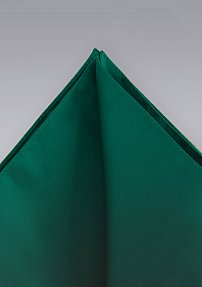 Solid Pocket Square Forest Green