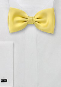 Mens Bow Tie in Light Yellow