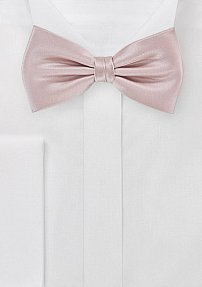 Men's Solid Color Bowtie in Blush Pink