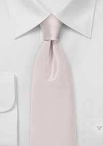 Solid Color Tie in Light Blush Pink