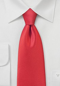 Single Hued Necktie in Poppy Red