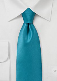 Solid Color Tie in Adriatic Sea Blue