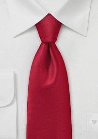 Bright Fiery Red Necktie