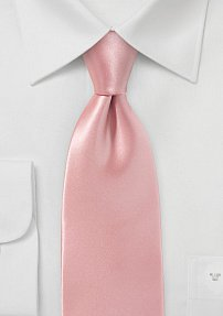 Pink Coral Necktie in Pure Silk
