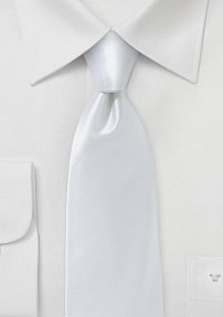 Designer Silk Tie in Bright White