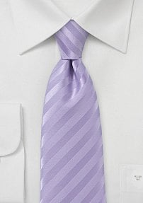 Solid Colored Bright Purple Tie with Satin Finish