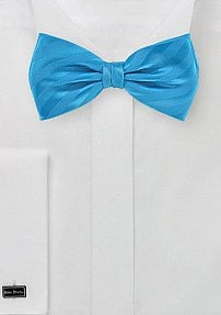 Solid Bow Tie in Vibrant Malibu Blue