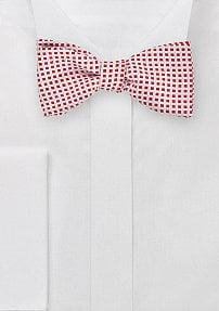 Self Tie Bow Tie in Red and White