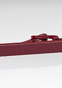 Cheery Red Colored Tie Bar