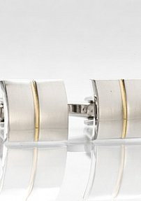 Cufflink Studs Silver and Gold