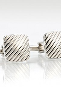 Silver Designer Cuff Links