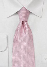 Spring and Summer tie  Solid colored pink tie with fine pattern
