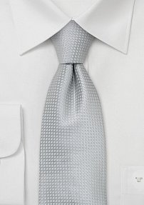 Mens Silk Tie in Festive Silver